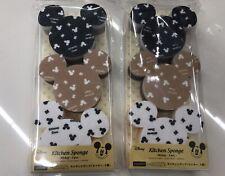 Disney Mickey Mouse Sponge Set (2 sets /6 pcs) Kitchen item New
