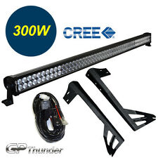 52inch Off Road 300W CREE LED Light Bar Mounting Bracket Jeep JK Wrangler 07-15