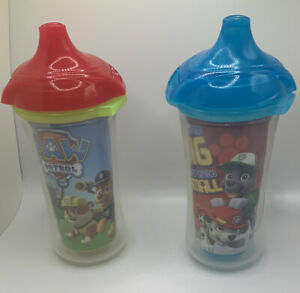 Munchkin Paw Patrol Spill Proof 9 oz Click Lock 2 Cups Insulated Sippy Used