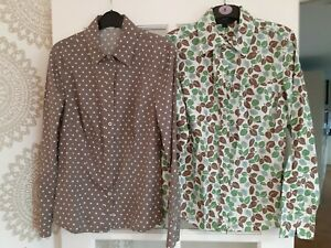 2x Women's Boden shirt blouse polka and flowery size 10 and 8