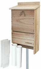 Triple-Celled Bat House W/ Two Bat Exclusion Tubes by Bestnest