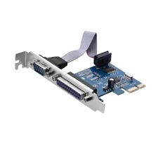 Sienoc PCI-E PCI Express DB25 Parallel LPT1 DB9 RS232 serial port adapter card