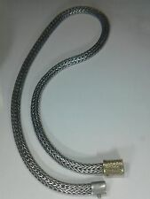 """John Hardy Sterling Silver&18K (yg@clasp)Necklace. 49.7gr. Lenght:16.5""""in"""