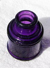 EXCELLENT antique SANFORD INK well bottle TOTAL TRANSLUCENT PURPLE Color
