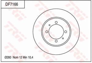 TRW Brake Rotor Pair Rear DF7166S fits Proton Persona 1.6