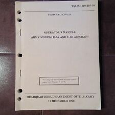 Original Army Cessna U-3A and U-3B Flight Manual aka Model 310