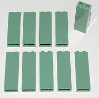Lego Lot of 10 New Sand Green Brick 1 x 2 x 5 Bricks Building Blocks Parts