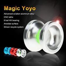 Magic Yoyo T6 Rainbow Aluminum Alloy Metal Yoyo 8 Ball KK Bearing Silver G8W9