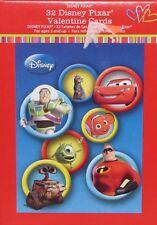 32 Disney Pixar Valentine Cards - New in Box