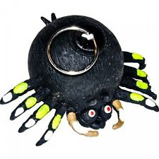 Novelty Rubber Spider Trembling With Pull Cord Prank Gag Gift Toy