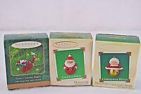 Hallmark Keepsake Ornament Set of 3 Mini Ornaments Santa/Bells