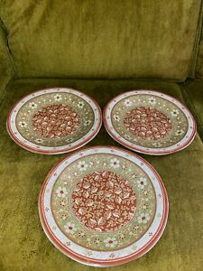 222 Fifth Kashmir Porcelaine Fine China PTS International Dinner Plates Lot Of 3