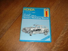 HAYNES MANUAL FOR HONDA CIVIC 1500 1975-1977.