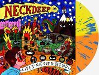 Neck Deep Lifes Not Out To Get You Exclusive Orange Yellow Splatter Vinyl LP 750