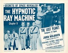 Lost Planet 1953 Chapter 9  Lobby Card Set   NM  The Hypnotic Machine  11 x 14