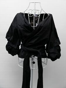 Sheike Embroidered Wrap Blouse Shirt Size 10 New Cotton