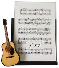 "String Guitar w/Pick Guard Musical Instrument Picture Frame 5"" x 7"""