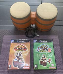Lot Donkey Konga 1/2 + Manette Bongo Nintendo Gamecube PAL FR
