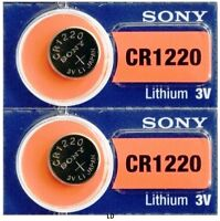 CR 1220 SONY LITHIUM BATTERIES (2 piece) 3V Watch New Authorized US Seller