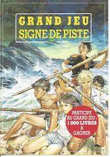 Encart PLV publicité  Tract Signe de Piste GRAND JEU 1989 Joubert Scout