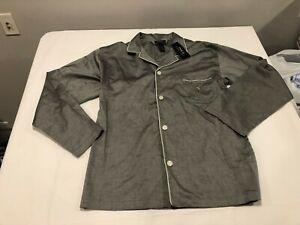NWT $44.00 Polo Ralph Lauren Mens Button Down Sleepshirt Gray Size MEDIUM