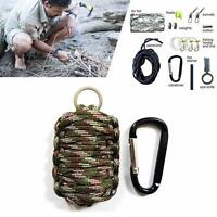 Survival Kit Paracord Grenade Fire Starter Camping Gear Kit Fishing Kit CAMO PQ