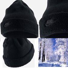 Nike Sherpa Cuffed Beanie Hat Black One Size New AA8270-010 Winter Stitched