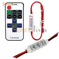 12V 3 Keys Mini RF Wireless Remote Switch Dimmer Controller for LED Strip Light