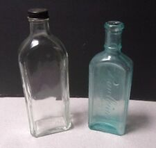 LOT OF 2 ANTIQUE GLASS MEDICINE BOTTLES - Rawleigh's & Pierce MD