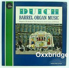 DE ARABIER Dutch Barrel Organ Music LP Street Piano Grinder FONTANA 1960 NM