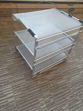 Silver 3 Tier File Desk Organizer