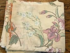 New Floral Wamsutta King Flat Sheet, Ultracale, Poly Cotton
