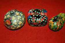 lot anciennes petites boites en carton bouilli - Fleurs - canard - déco vitrine
