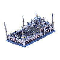 3D Metal Art The 1:680 Blue Mosque Model Build Kits Toys Hobbies