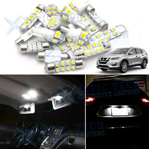 White LED Interior Map Dome Light Package Kit for Nissan Rogue 2008 - 2019 2020