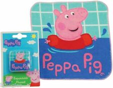 PEPPA PIG NEW EXPANDABLE FLANNEL MAGIC FACE CLOTH TOWEL RRP £3.99 KIDS BATH WASH