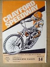 1977 Crayford Speedway- CRAYFORD v EASTBOURNE, 26 July (Org*, VG)