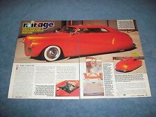"1941 Ford Convertible Vintage Led Sled Custom Article ""Mirage"""