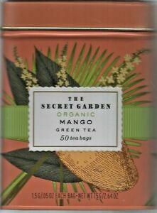 The Secret Garden USDA Organic Mango Green Tea,50 Bag, Tin, EXP 09/23