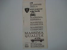 advertising Pubblicità 1961 PEUGEOT 404