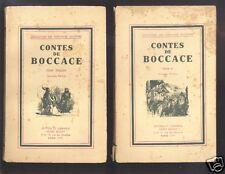 Contes De Boccace I Et II collection les écrivains illustres
