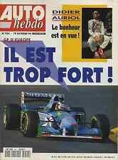 AUTO HEBDO n°954 du 19 Octobre 1994 GP EUROPE CLIO GrA FIAT coupé 16V NISSAN 200