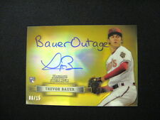 TREVOR BAUER 2 CARD LOT--NICKNAME AUTO #'D TO ONLY 15!! AND 1 RC  2012 STERLING