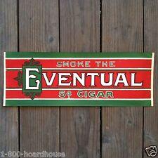 Vintage Original EVENTUAL CIGAR STORE Window Paper Poster 1920s Christmas Colors