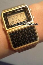 RARE ! NEW CASIO DATABANK CALCULATOR WRIST WATCH DBC610 GA 1 year WARRANTY GOLD
