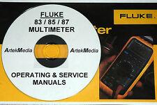 Fluke 83 85 87 Multimeter Ops Amp Service Manuals 2 Vol