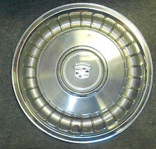 """Original 1979-1993 Cadillac Fleetwood Set of 3 Stainless Steel 15"""" Hubcaps"""