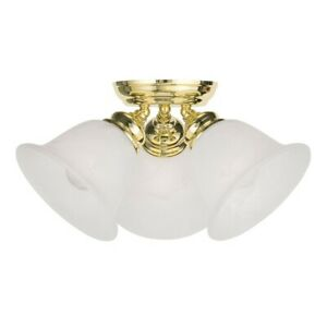 Livex Lighting Essex Ceiling Mount in Polished Brass - 1358-02