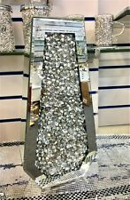 Sparkle Palace Diamond Crushed Crystal Sparkly Silver Mirrored Floor Vase 40CM