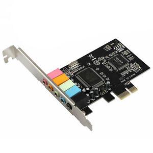 PCI-E Express 5.1-Kanal CMI8738 4/6-Kanal-PCIE-Audio-Soundkarte mit Treiber-CD